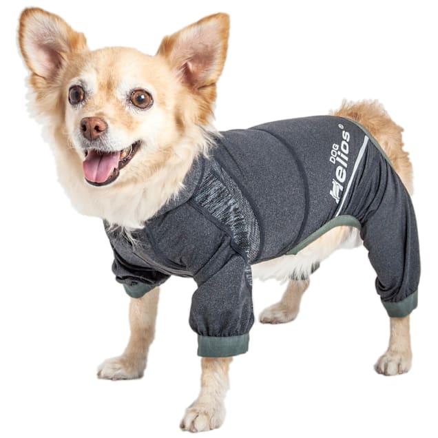 Dog Helios Namastail Lightweight Black Dog Hoodie Tracksuit, X-Small - Carousel image #1