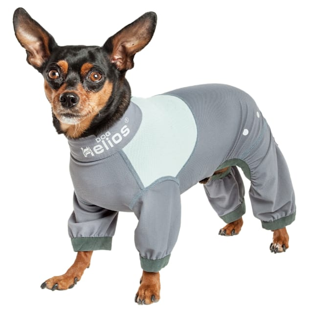 Dog Helios Tail Runner Lightweight Grey Dog Track Suit, X-Small - Carousel image #1