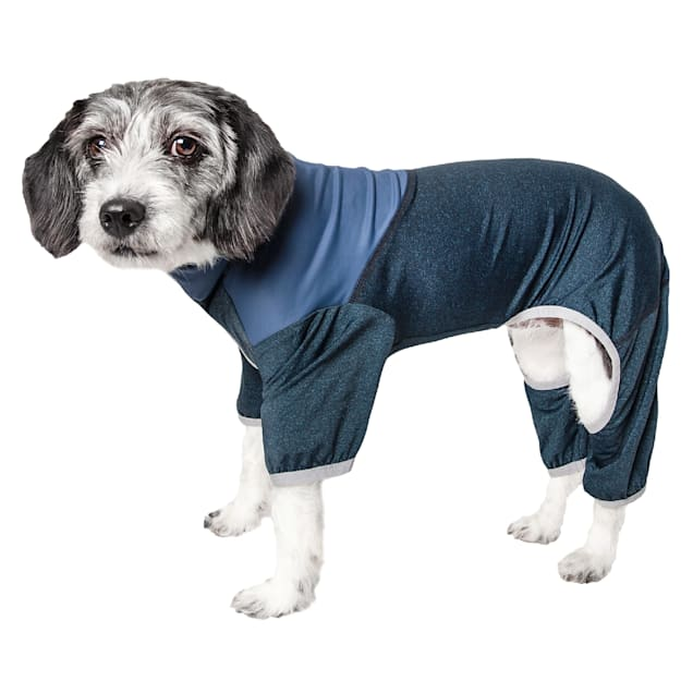 Pet Life Active Embarker Full Body Warm Up Teal Dog Sweaters, X-Small - Carousel image #1