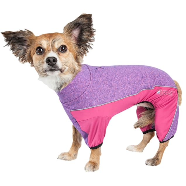 Pet Life Active Chase Pacer Heathered Performance Pink Dog Sweaters, X-Small - Carousel image #1