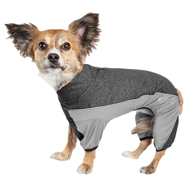 Pet Life Active Chase Pacer Heathered Performance Grey Dog Sweaters, X-Small - Carousel image #1