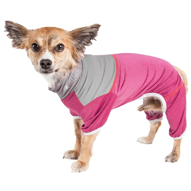 Pet Life Active Embarker Full Body Warm Up Pink Dog Sweaters, X-Small - Carousel image #1