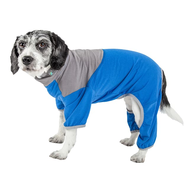 Pet Life Active Embarker Full Body Warm Up Blue Dog Sweaters, X-Small - Carousel image #1