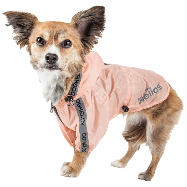 Dog Helios Torrential Shield Waterproof Adjustable Peach Dog Windbreaker Raincoat, X-Small - Carousel image #1