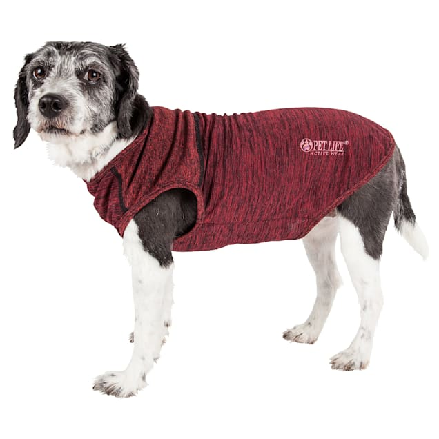 Pet Life Active Aero-Pawlse Heathered Red Quick-Dry Dog Tank Top T-Shirt, X-Small - Carousel image #1