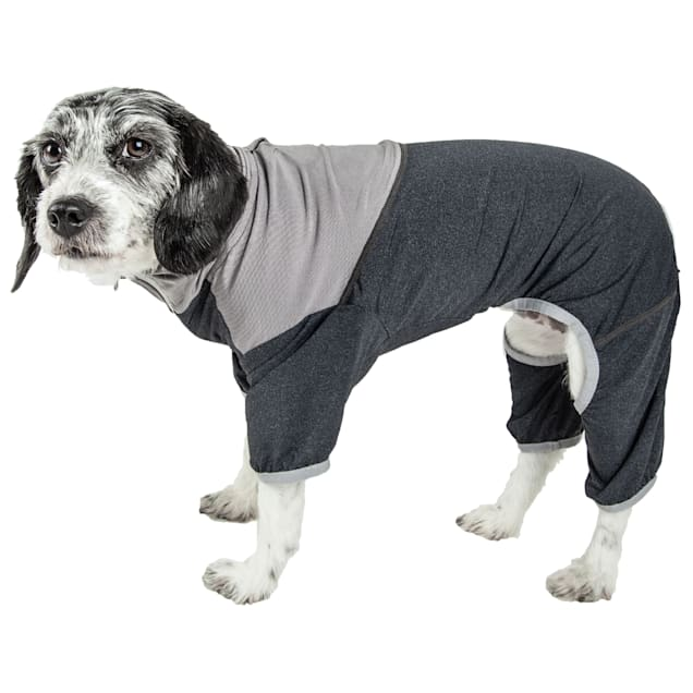 Pet Life Active Embarker Full Body Warm Up Grey Dog Sweaters, X-Small - Carousel image #1
