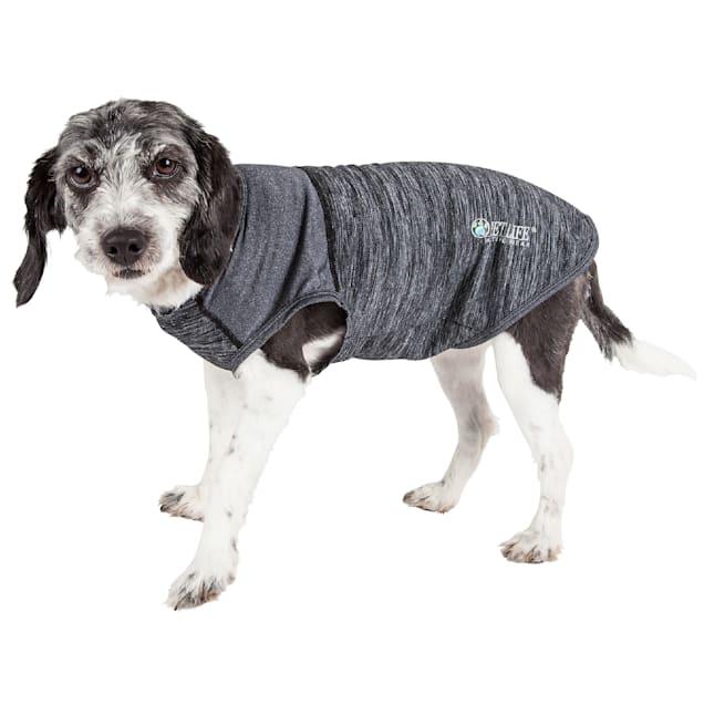 Pet Life Active Aero-Pawlse Heathered Black Quick-Dry Dog Tank Top T-Shirt, X-Small - Carousel image #1