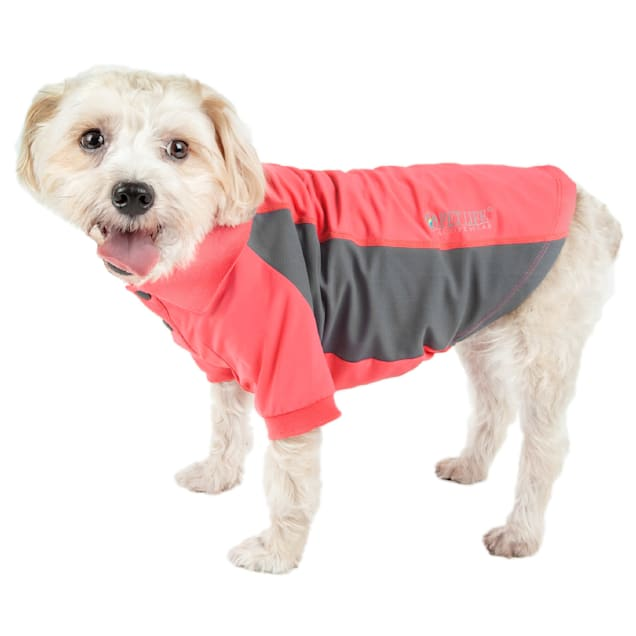Pet Life Active Barko Pawlo Relax-Stretch Dog Polo Red T-Shirt, X-Small - Carousel image #1