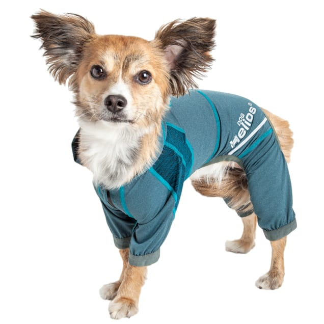 Dog Helios Namastail Lightweight Teal Dog Hoodie Tracksuit, X-Small - Carousel image #1
