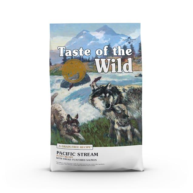 Taste of the Wild Pacific Stream Grain-Free Smoked Salmon Dry Puppy Food, 28 lbs. - Carousel image #1