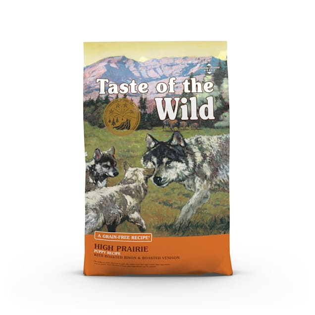 Taste of the Wild High Prairie Grain-Free Roasted Bison & Venison Dry Puppy Food, 28 lbs. - Carousel image #1