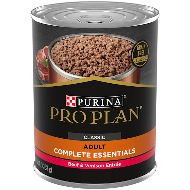 Purina Pro Plan Grain Free, High Protein Savor Classic Beef & Venison Entree Wet Dog Food, 13 oz., Case of 12 - Carousel image #1
