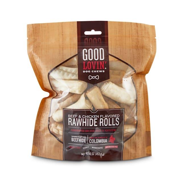 Good Lovin' Beef & Chicken Flavored Rawhide Roll Dog Chews, 16 oz. - Carousel image #1
