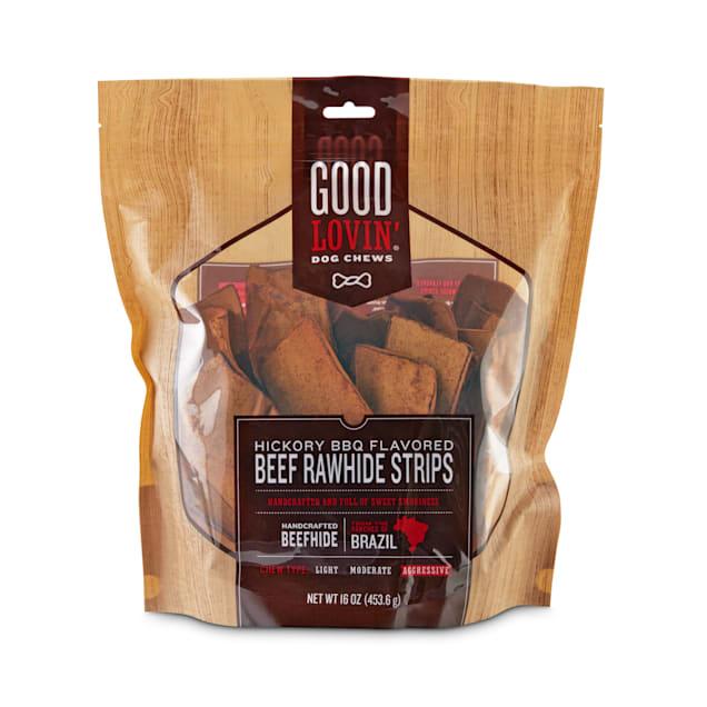 Good Lovin' Hickory BBQ Flavored Beef Rawhide Strip Dog Chews, 16 oz. - Carousel image #1