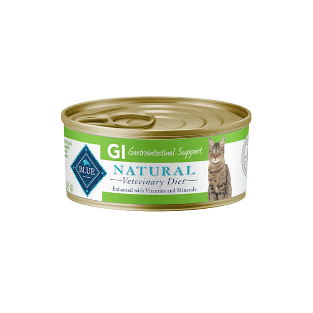 Blue Buffalo Natural Veterinary Diet GI Gastrointestinal Support Canned Wet Cat Food, 5.5 oz., Case of 24 - Carousel image #1