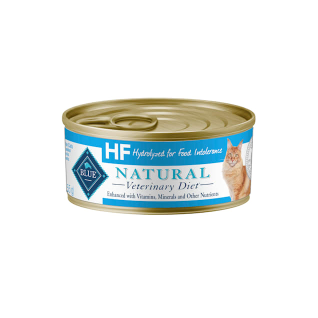 Blue Buffalo Natural Veterinary Diet HF Hydrolyzed for Food Intolerance Wet Cat Food, 5.5 oz., Case of 24 - Carousel image #1