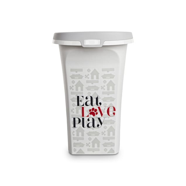 """You & Me Eat, Love, Play Rolling Bulk Food Storage Container for Dogs, 14.4"""" L X 11.6"""" W X 16.7"""" H - Carousel image #1"""