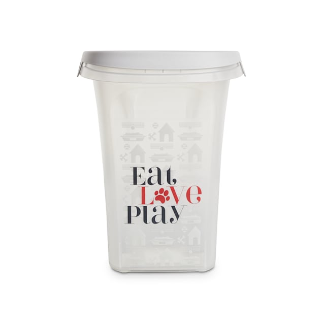 "You & Me Eat, Love, Play Clear Food Storage Container for Dogs, 10.7"" L X 8.5"" W X 10.8"" H - Carousel image #1"