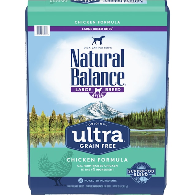 Natural Balance Original Ultra Grain Free Large Breed Bites Chicken Dry Dog Food, 24 lbs. - Carousel image #1