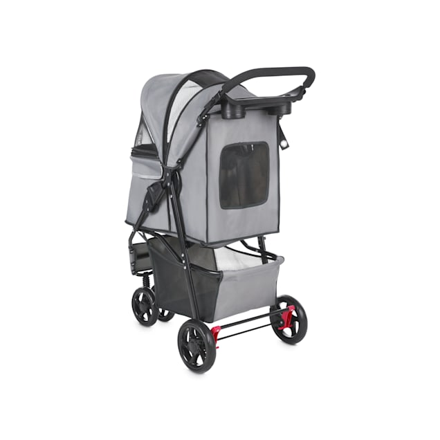 Good2Go Paws Up Reflective Gray Pet Stroller, For Pets Up to 30 lbs. - Carousel image #1
