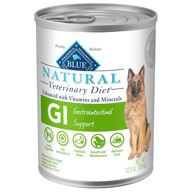 Blue Buffalo Natural Veterinary Diet GI Gastrointestinal Support Canned Chicken Dog Food, 12.5 oz., Case of 12 - Carousel image #1