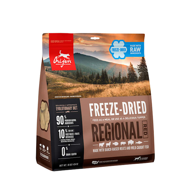 ORIJEN Regional Red Recipe Grain Free High Protein Premium Raw Meat Freeze Dried Dog Food, 16 oz. - Carousel image #1