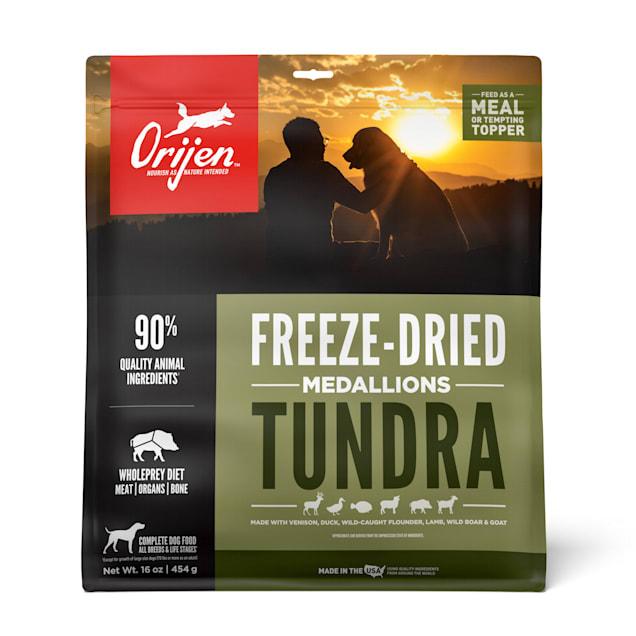 ORIJEN Tundra Recipe Grain Free High Protein Premium Raw Meat Freeze Dried Dog Food, 16 oz. - Carousel image #1