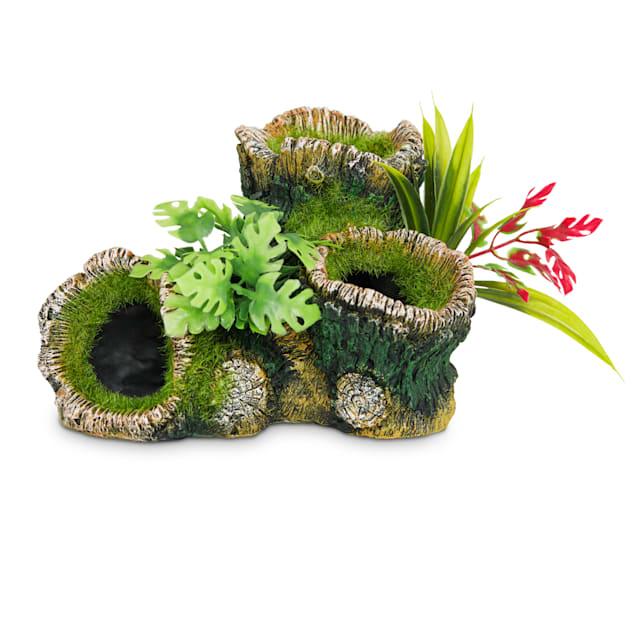 Imagitarium Tree Log with Plants Decor - Carousel image #1