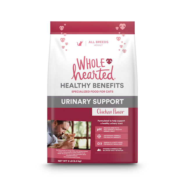 WholeHearted Urinary Support Chicken Flavor Dry Cat Food, 5 lbs. - Carousel image #1