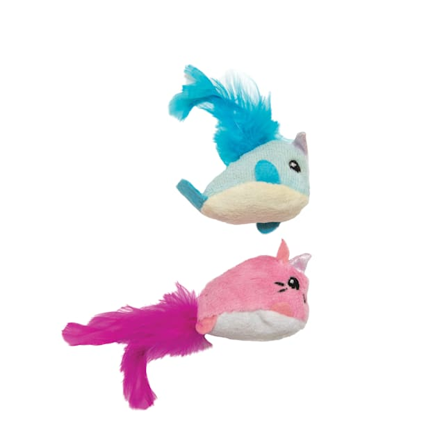 Petstages Unicorn & Narwhal Cat Toys, Small, Pack of 2 - Carousel image #1