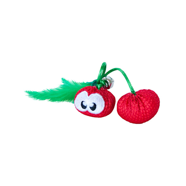 Petstages Dental Cherries Cat Chew Toys, Small - Carousel image #1
