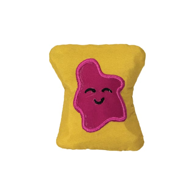 Petstages Tiny Toast Tosser Cat Chew Toys, Small - Carousel image #1
