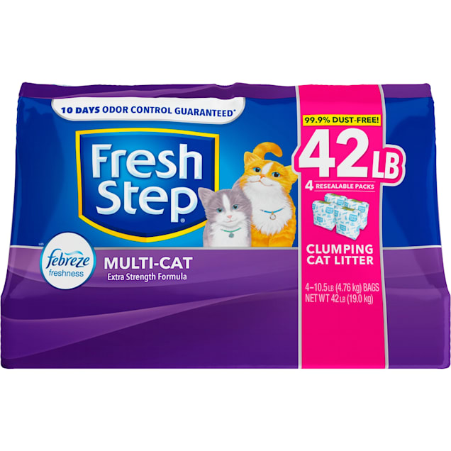 Fresh Step Multi-Cat Extra Strength Scented Clumping Cat Litter with the Power of Febreze, 42 lbs. - Carousel image #1