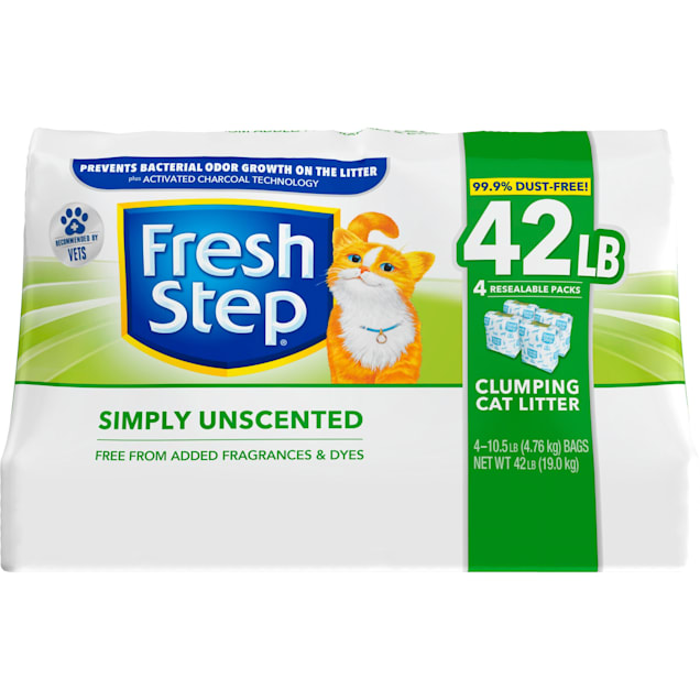 Fresh Step Simply Unscented Clumping Cat Litter, 42 lbs. - Carousel image #1
