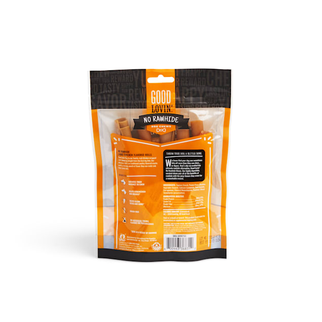 Good Lovin' No Rawhide Chicken Flavored Rolls for Dogs, 5.2 oz., Count of 5 - Carousel image #1