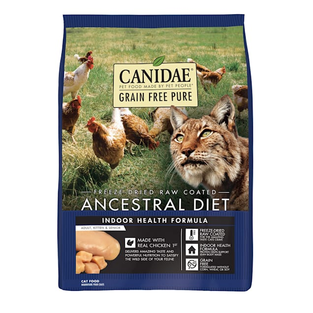 Canidae PURE Ancestral Grain Free Raw Coated Indoor Chicken Dry Cat Food, 10 lbs. - Carousel image #1