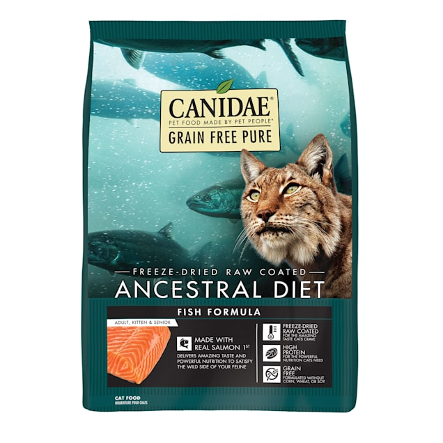 Canidae PURE Ancestral Grain Free Raw Coated Salmon Dry Cat Food, 10 lbs. - Carousel image #1