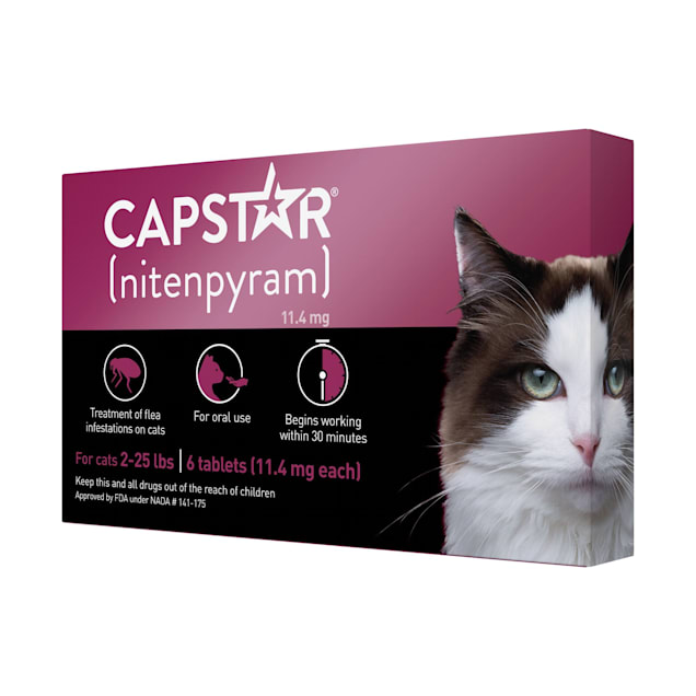 Capstar Flea Tablets for Cats 2-25 lbs., Count of 6 - Carousel image #1