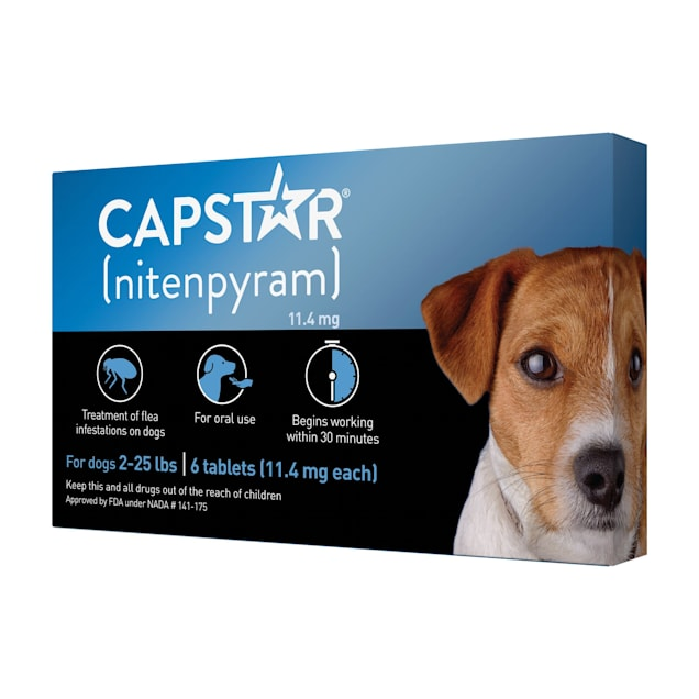 Capstar Flea Tablets for Dogs 2-25 lbs., Count of 6 - Carousel image #1