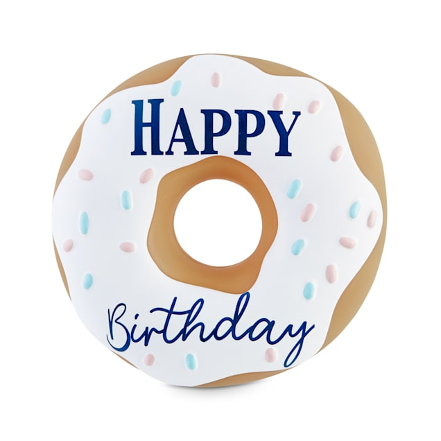 Bond & Co. Birthday Donut Vinyl Dog Toy, Small - Carousel image #1