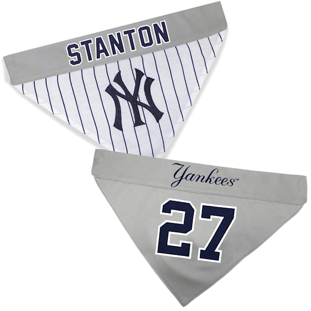 Pets First New York Yankees Giancarlo Stanton Reversible Bandana for Dog, Small/Medium - Carousel image #1