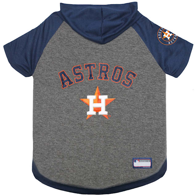Pets First Houston Astros Hoodie T-Shirt for Dog, X-Small - Carousel image #1