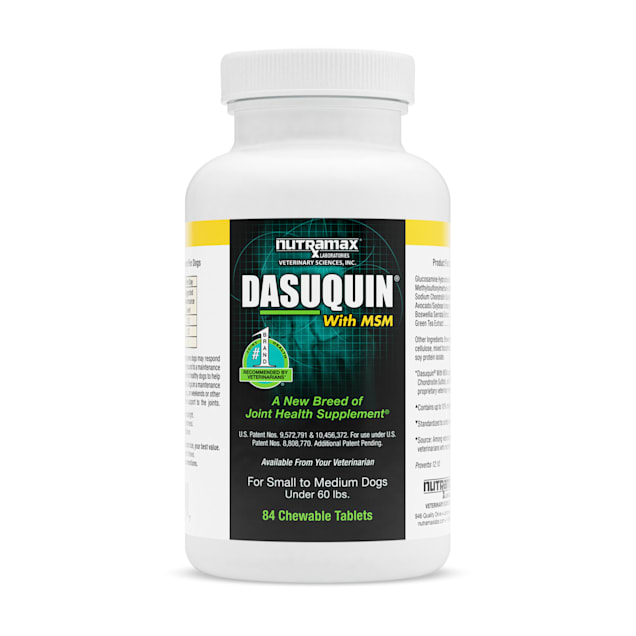 DASUQUIN MSM Chewable Tablets For Small to Medium Dogs Under 60 lbs., Count of 84 - Carousel image #1