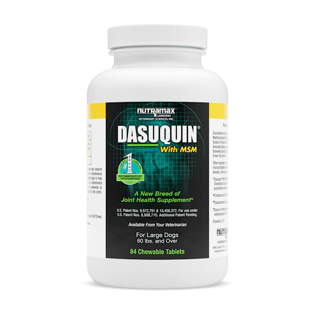 DASUQUIN MSM Chewable Tablets For Large Dogs 60 lbs. +, Count of 84 - Carousel image #1