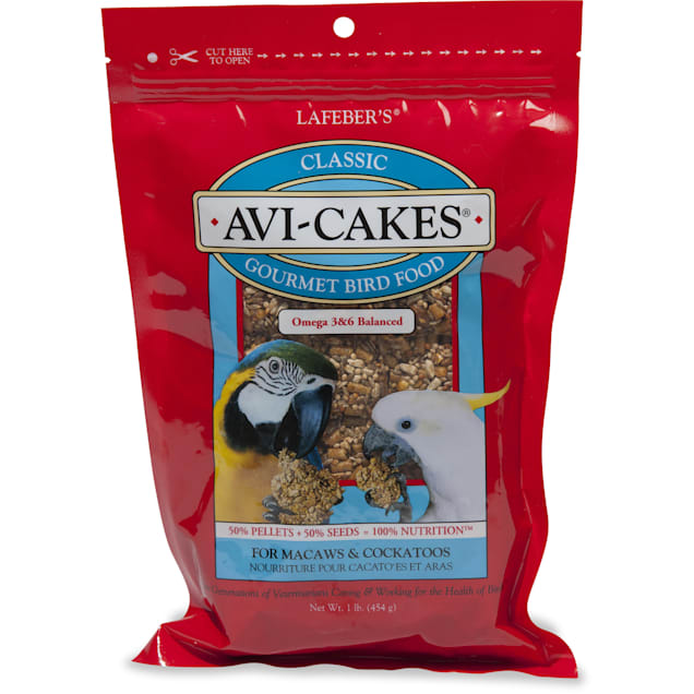 Lafeber's Avi-Cakes Gourmet Bird Food for Macaws & Cockatoos, 16 oz. - Carousel image #1