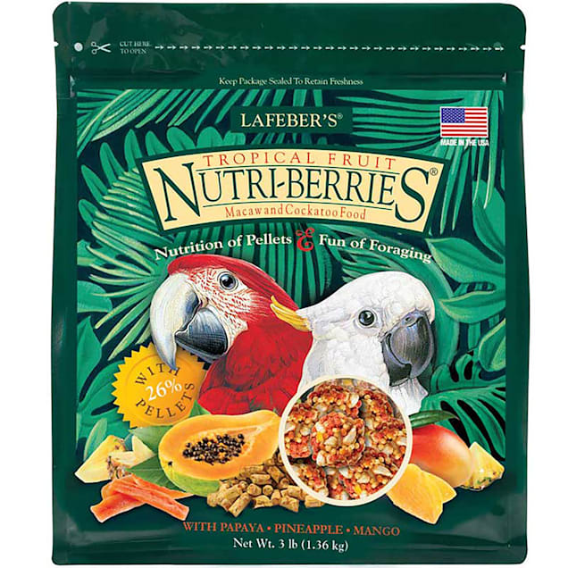 Lafeber's Tropical Fruit Nutri-Berries Dry Food for Macaws and Cockatoos, 3 lbs. - Carousel image #1