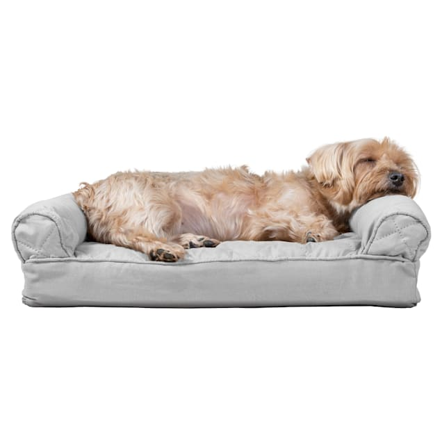 """FurHaven Quilted Pillow Sofa Dog Bed Silver Gray, 20"""" L x 15"""" W - Carousel image #1"""