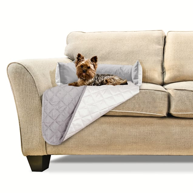 """FurHaven Sofa Buddy Furniture Cover Dog Bed Gray, 18"""" L X 26"""" W - Carousel image #1"""