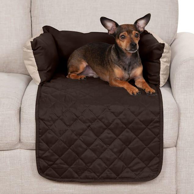 "FurHaven Sofa Buddy Furniture Cover Dog Bed Espresso, 18"" L x 26"" W - Carousel image #1"