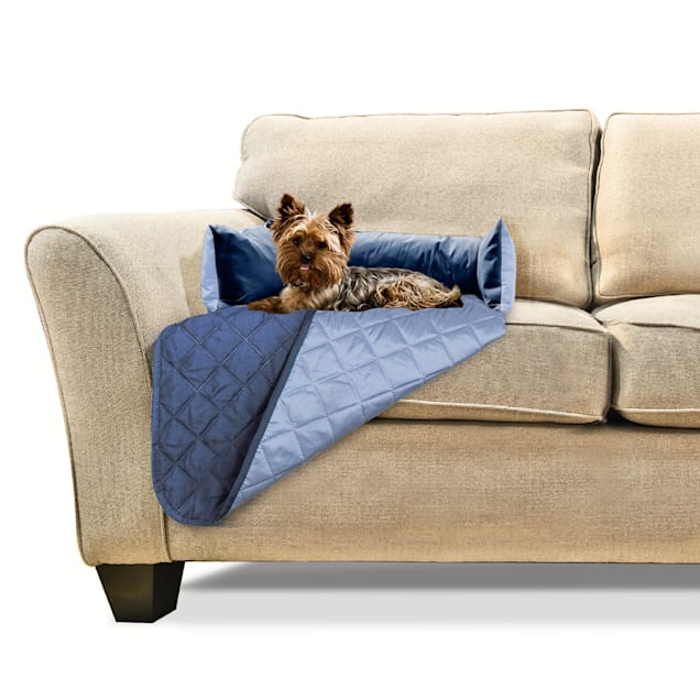 """FurHaven Sofa Buddy Furniture Cover Dog Bed Navy, 18"""" L X 26"""" W - Carousel image #1"""